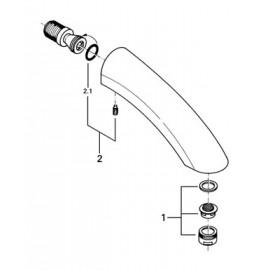 Излив для ванны вынос 170 мм Grohe 13614000