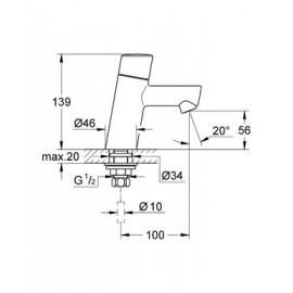 Вертикальный вентиль Grohe Concetto new 32207001