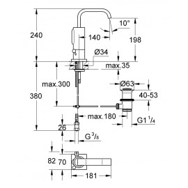 Инфракрасный смеситель для раковины Grohe Allure E 36234000