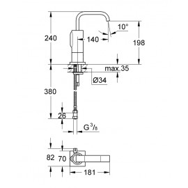 Инфракрасный смеситель для раковины Grohe Allure E36098000