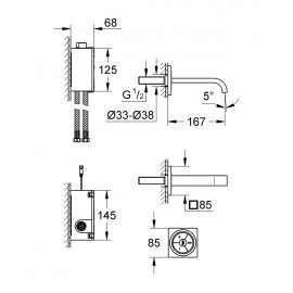 Цифровой смеситель для раковины Grohe Allure F-digital 36343000