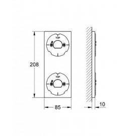 Монтажная панель для управления Grohe Allure F-digital 40548000