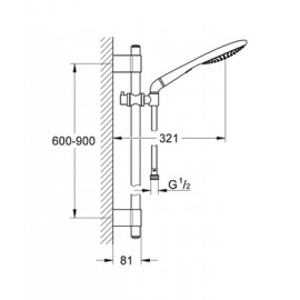 Душевая система Grohe Rainshower Solo 27273001
