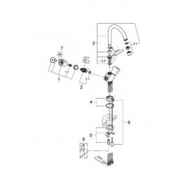 Смеситель для раковины Grohe Costa S 21338001