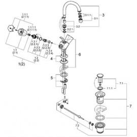 Смеситель для раковины Grohe Costa L 21375001