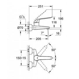 Смеситель однорычажный для раковины Grohe Euroeco Special Relaunch 32778000