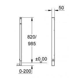 Опорная стойка для систем инсталляции Grohe Rapid SL 38550000