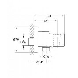 Подключение для душевого шланга Grohe Relexa neutral 28628000