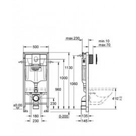 Инсталляция для подвесного унитаза Grohe Rapid SL 38722001