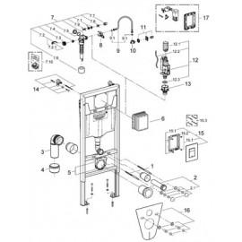 Инсталляция для подвесного унитаза Grohe Rapid SL 38775001