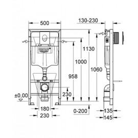 Инсталляция для подвесного унитаза Grohe Rapid SL 38750001