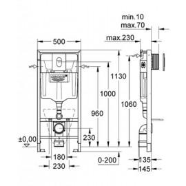 Инсталляция для подвесного унитаза Grohe Rapid SL 38929000