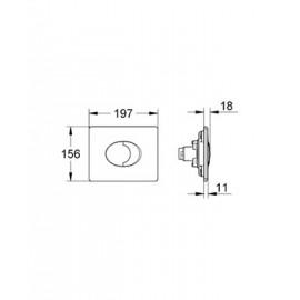 Накладная панель Grohe Skate Air 38506000