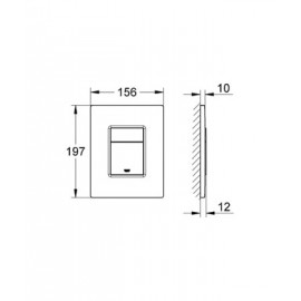 Накладная панель для унитаза, поверхность с защитой от следов от пальцев Grohe Skate Cosmopolitan 38732BR0