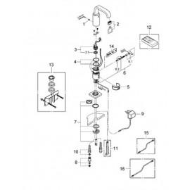 Смеситель инфракрасный для раковины Grohe Allure E 36095000