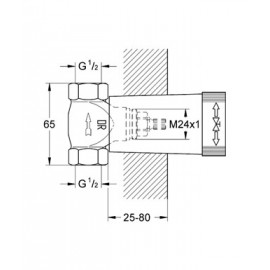 Механизм скрытого вентиля Grohe Non Rapido Classic 29800000