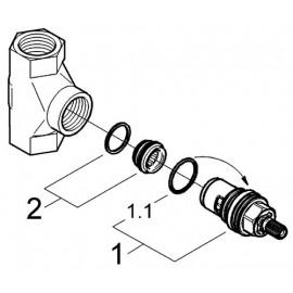 Механизм скрытого вентиля Grohe Non Rapido Classic 29811000