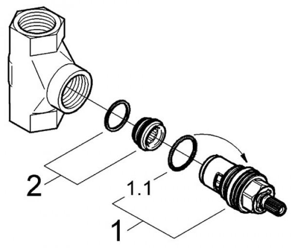 Механизм скрытого вентиля GROHE