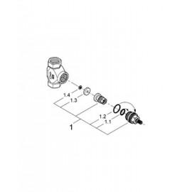 Скрытая вентильная головка, встраиваемый механизм Grohe Non Rapido Classic 29032000